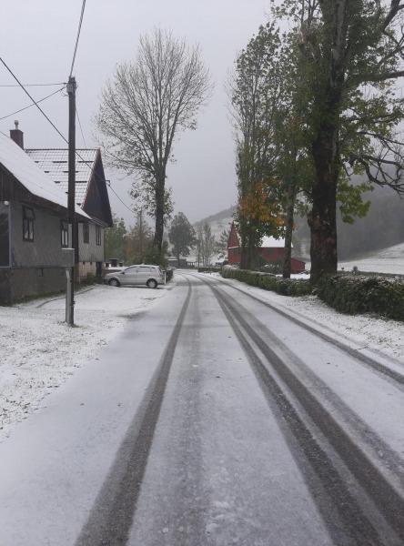 A horvátokhoz már megérkezett az első havazás