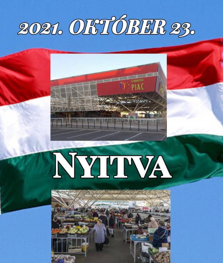 A Búza téri Piaccsarnok 2021. október 23-án szombaton nyitva tart!